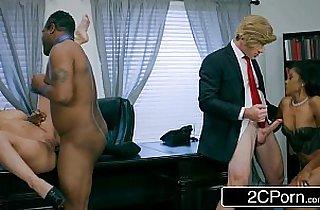 4some, black  porn, blonde, blowjob, boobs, tits, Giant boob, giant titties