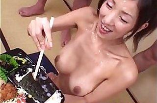 amateur sex, asian babe, asians, blowjob, brunette, bukkake, chinese, cream