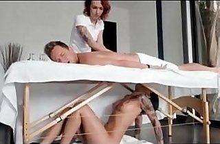 ass, double, massage, sucking