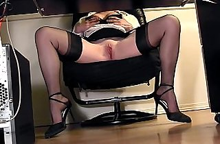 hiddencamera, heels, leggy, lingerie, masturbating, officeporn, pussycats, shaved puss