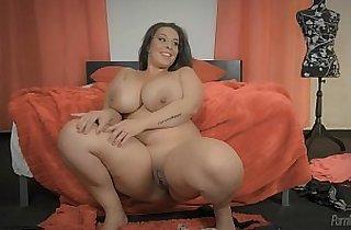 BBW, tits, fatty, giant titties, latino, masturbating, solo xxx, teased