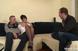 3some fuck, anal, asian babe, Big Dicks, blowjob, brunette, tits, cream