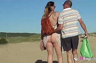 3some fuck, amateur sex, beach, blowjob, cuckold sex, cream, cumshots, drill